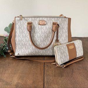 Michael Kors Kellen Medium Satchel Bag & Wallet